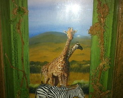 Girafas safari - Arte Francesa