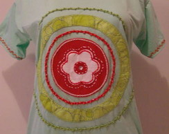Mandala com Flor - Verde Claro