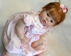Boneca Reborn Geovanna cabelo natural