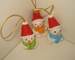 Boneco de Neve Enfeite para Natal