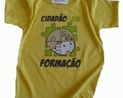 Camiseta infantil malha PET Cidad�o