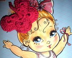 El�stico de cabelo borboleta em Crochet