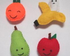 Kit 4 �m�s de Geladeira Frutinhas Feltro
