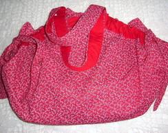 Bolsa Bailarina (Floral vermelho)