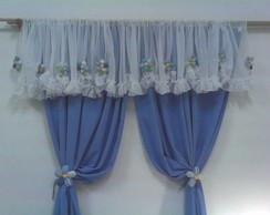 Cortina Flores Azuis♥