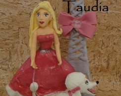 Topo de Bolo Barbie Moda e Magia