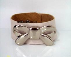 pulseira de couro la�o prata 02