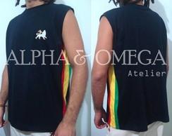 Camiseta Reggae Artesanal Preta /mach�o