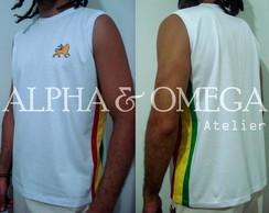 Camiseta Reggae Artesanal Branca /mach�o