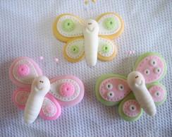 Aplique borboleta de biscuit