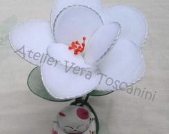 Lembrancinha flor de meia de seda