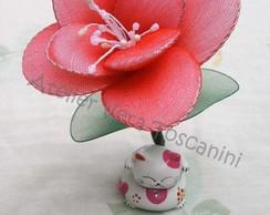 Lembrancinha flor de meia de seda!