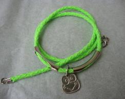 pulseira/gargantilha verde fluorescente