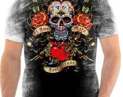 ... Camisa Camiseta Personalizada Caveira Mexicana 017 3549e0569c0