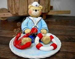 Topo de bolo ursinho marinheiro