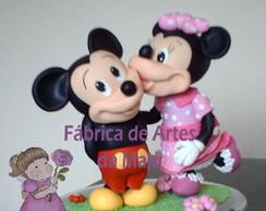 Topo de bolo infantil - Mickey e Minnie