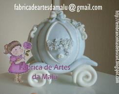 Topo de bolo - Carruagem Cinderella