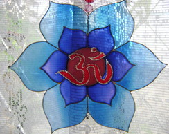 Mandala Ohm Flor azul MP-120