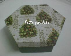 Caixa Sextavada Natalina
