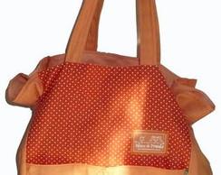 Ecobag Iza tamanho M - cor laranja