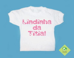 T-Shirt Beb� e Infantil Tia Hello Kitty