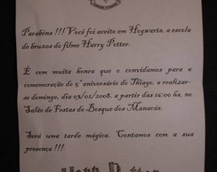 Convite Festa Harry Potter