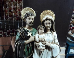 Sagrada Fam�lia Barr. com folha de ouro