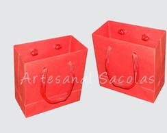 Sacola mini vermelha 10x10x4,5 cm