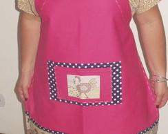 avental  rosa com galinha  VENDIDO