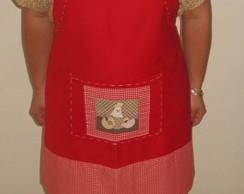 avental vermelho com galinha VENDIDO