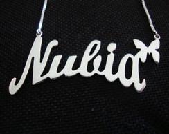 Colar de nome personalizado em prata 950