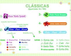 50 Etiq. Adesivas Pl�sticas Cl�ssicas