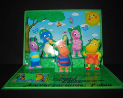 Convite Backyardigans Pop-up