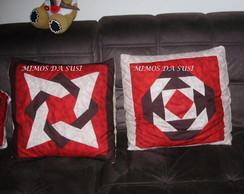 Almofada em patchwork - estrela