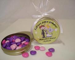 Latinhas Mint to be casamento 7,5 x 2 cm