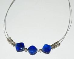 Gargantilha azul 1534