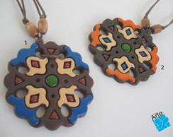 Colar biscuit Terra redondo