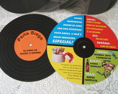 Convite em formato de disco