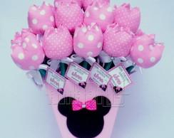 Vaso com 30 L�pis Tulipas - Minnie Baby