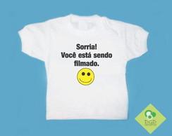 T-Shirt Beb� e Infantil SENDO FILMADO