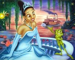 Painel a princesa e o sapo