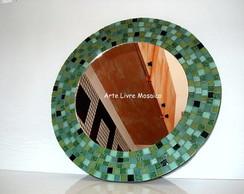 Espelho Tons de Verde