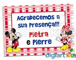 Mini adesivo Mickey e Minnie