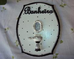 Placa Banheiro- miniaturas