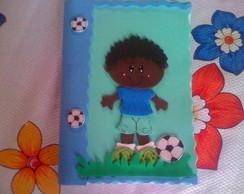 Caderno decorado Menino