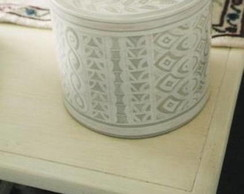 Caixa redonda estilo marroquino
