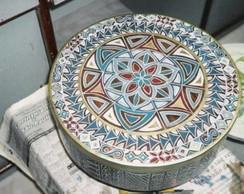 Caixa redonda baixa estilo marroquino