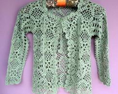 Casaco croch� verde