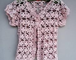 Blusa / Colete de croch� rosa