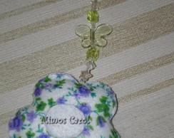 Chaveiro flor com pedrarias